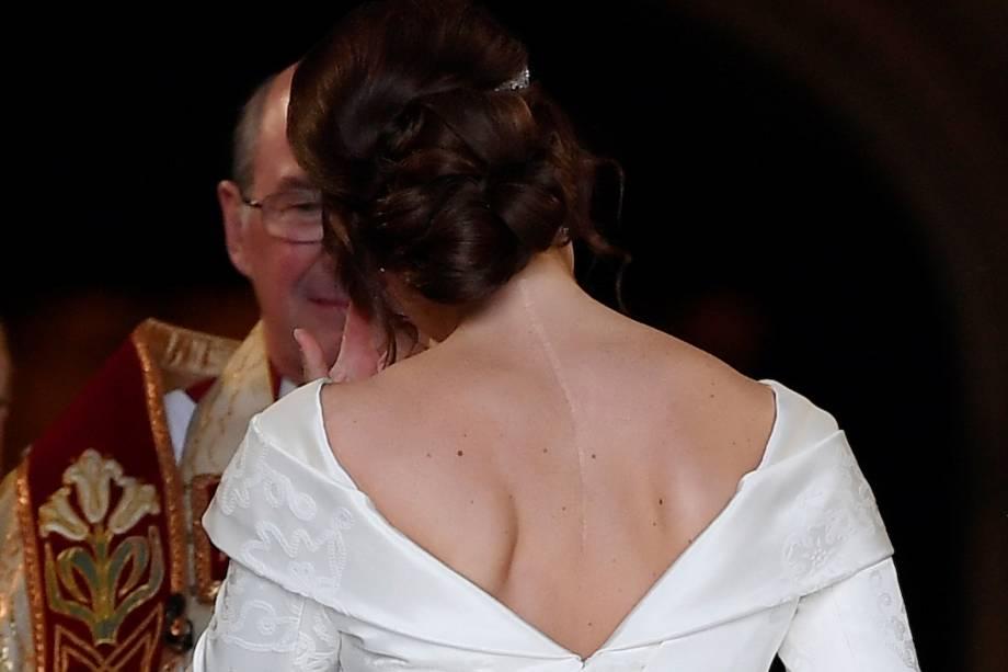 Princesa Eugenie de York chega à Capela de São Jorge para seu casamento com Jack Brooksbank - 12/10/2018