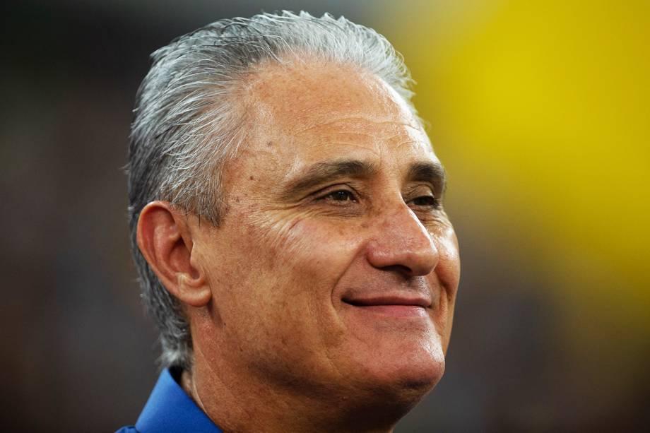 Tite, técnico da Seleção Brasileira, durante partida entre Brasil e Argentina, válida pelo Superclássico das Américas - 16/10/2018