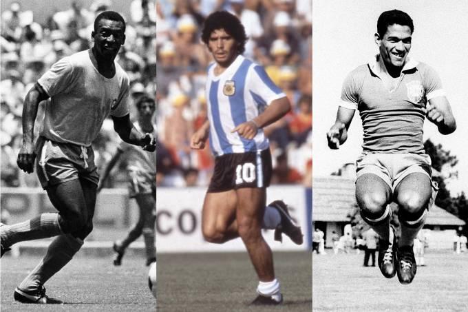 Pelé, Maradona e Garrincha