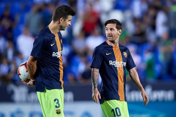 Piqué e Messi
