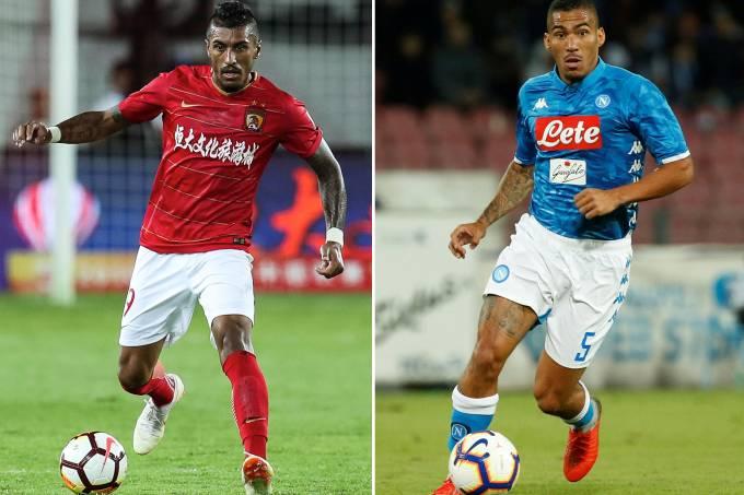 Paulinho (Guangzhou Evergrande) e Allan (Napoli)
