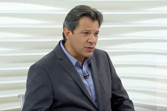 O candidato à Presidência da República pelo PT, Fernando Haddad, em entrevista ao 'Roda Viva', na TV Cultura – 22/10/2018