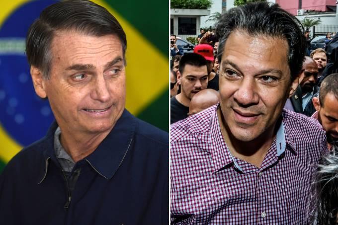 Jair Bolsonaro (PSL) e Fernando Haddad (PT)