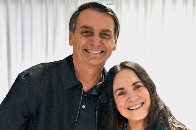 Jair Bolsonaro e Regina Duarte