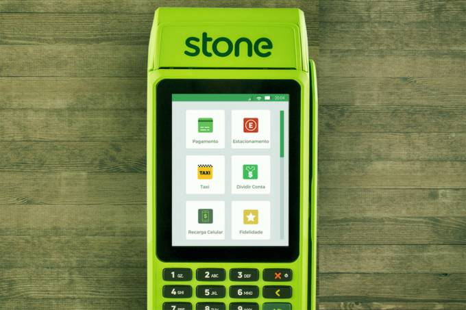Maquininha de pagamentos Stone