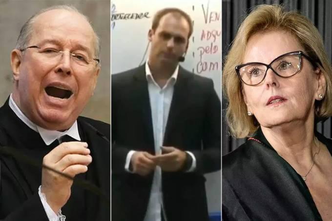Celso de Mello, Eduardo Bolsonaro e Rosa Weber