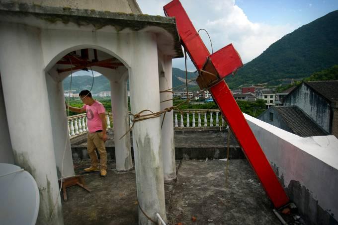 Remoção de cruzes na China