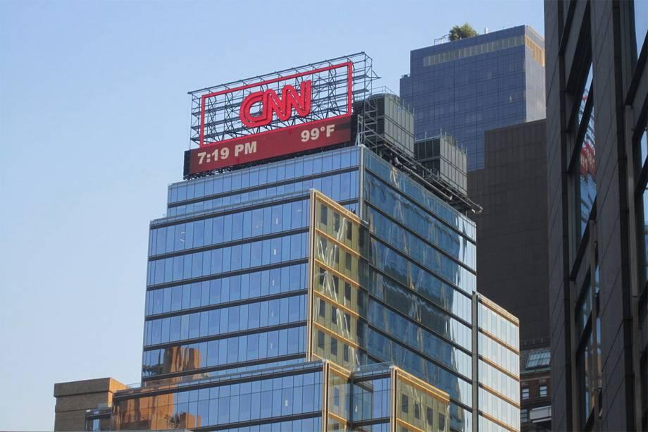 Prédio da sede da emissora CNN em Nova York