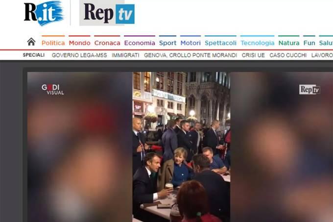 Merkel e Macron vão a bar em Bruxelas após cúpula sobre 'brexit'