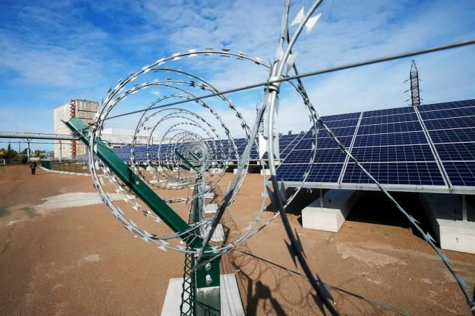 Ucrânia inaugura painéis solares em Chernobyl