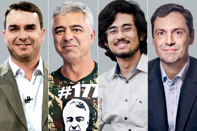 Flavio Bolsonaro, Major Olímpio, Kim Kataguiri e Luiz Orleans