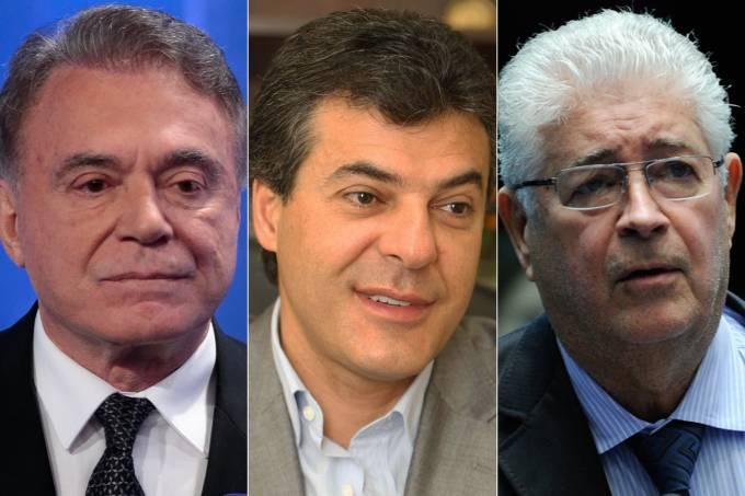 Álvaro Dias, Beto Richa e Roberto Requião