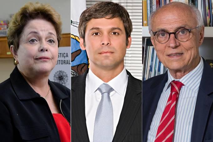 Dilma Rousseff, Lindbergh Farias e Eduardo Suplicy
