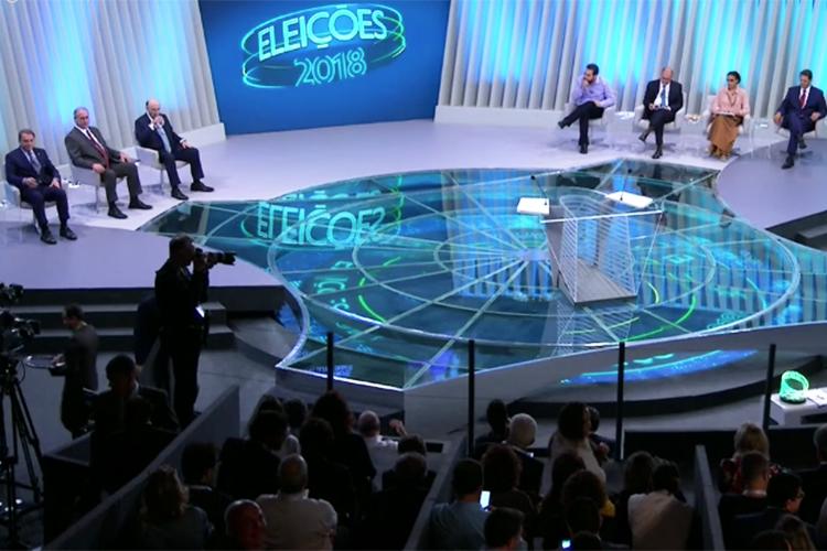 Sete candidatos à Presidência da República participam de debate na TV Globo - 04/10/2018