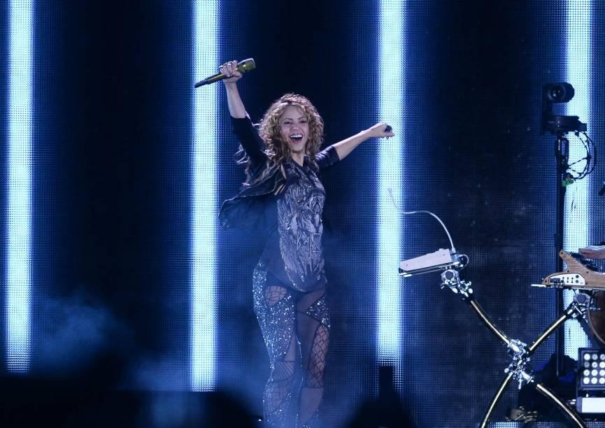 Shakira se apresenta na turnê El Dorado em São Paulo