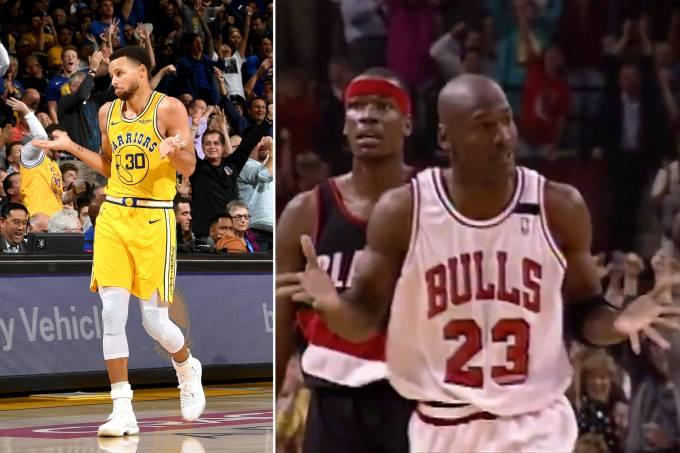 Stephen Curry repete Michael Jordan