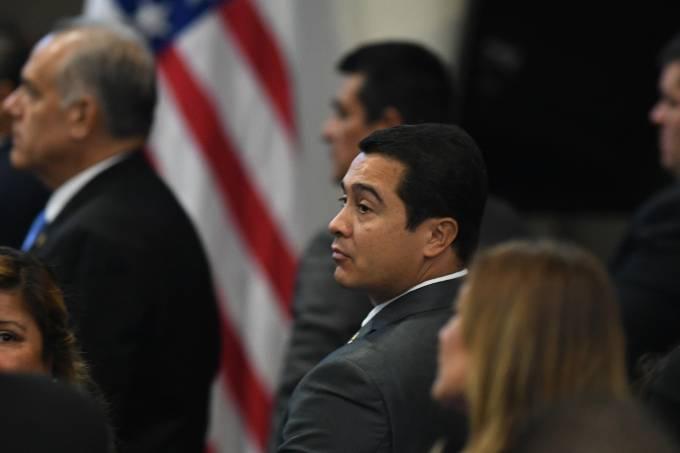 uan Antonio Hernandez, irmão do presidente de Honduras, em julgamento nos EUA em setembro de 2017
