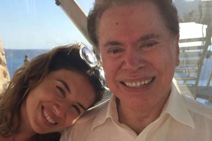 Silvio Santos e a filha Daniela Beyruti