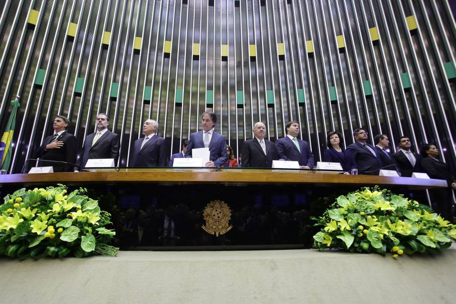 O presidente eleito Jair Bolsonaro participa de sessão solene do Congresso Nacional destinada a comemorar os 30 anos da Constituição Cidadã - 06/11/2018