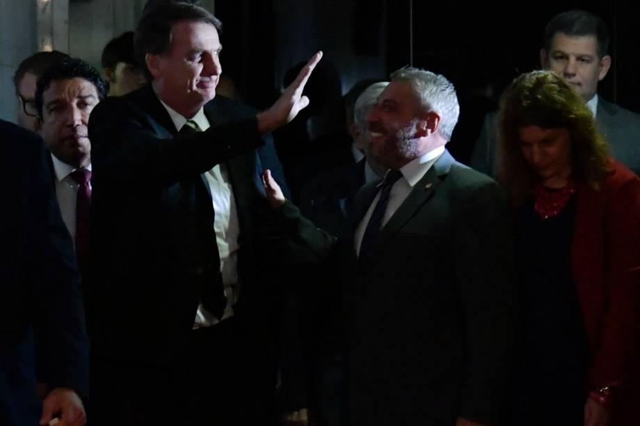 O presidente eleito Jair Bolsonaro chega para participar da sessão solene do Congresso Nacional destinada a comemorar os 30 anos da Constituição Cidadã - 06/11/2018
