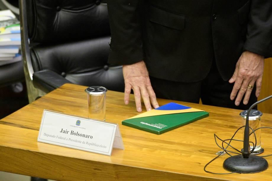 O presidente eleito Jair Bolsonaro participa da cerimônia do 30º aniversário da Constituição Federal no Congresso em Brasília - 06/11/2018