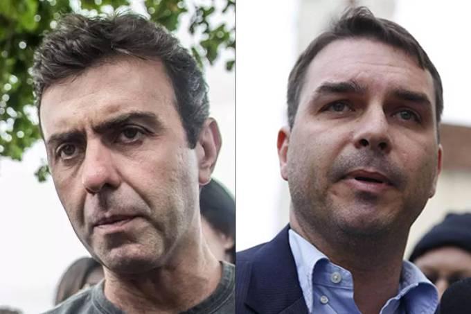 Marcelo Freixo e Flávio Bolsonaro