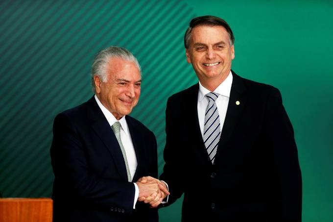 Michel Temer e Jair Bolsonaro