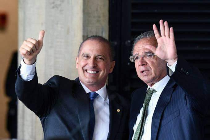Onyx Lorenzoni e Paulo Guedes
