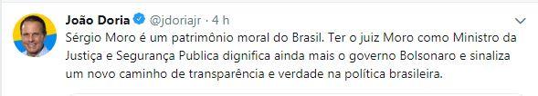 FHC, Haddad, Doria, Deltan: o que eles acham de Moro no governo Bolsonaro