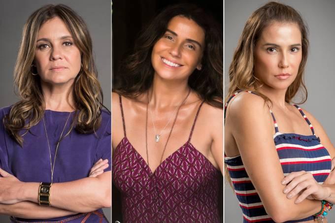 Adriana Esteves, Giovanna Antonelli e Deborah Secco
