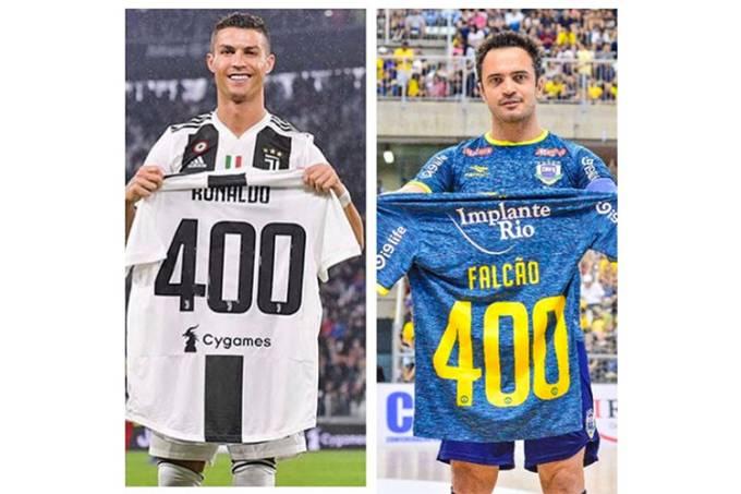 Falcão publica foto em seu Instagram comemorando recorde de gols