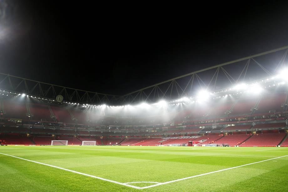 Vista geral do Emirates Stadium, em Londres, antes de partida amistosa entre Brasil e Uruguai - 16/11/2018