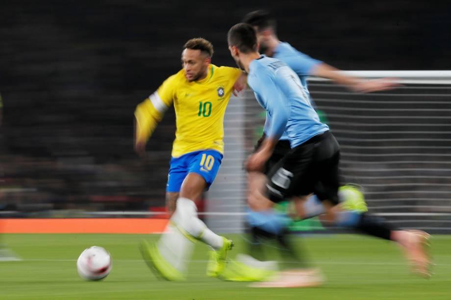 Amistoso entre Brasil e Uruguai, realizado no Emirates Stadium, em Londres - 16/11/2018