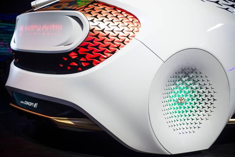 Toyota Concept I-Ride é apresentado durante a abertura do Salão do Automóvel 2018 para a imprensa, no São Paulo Expo - 06/11/2018