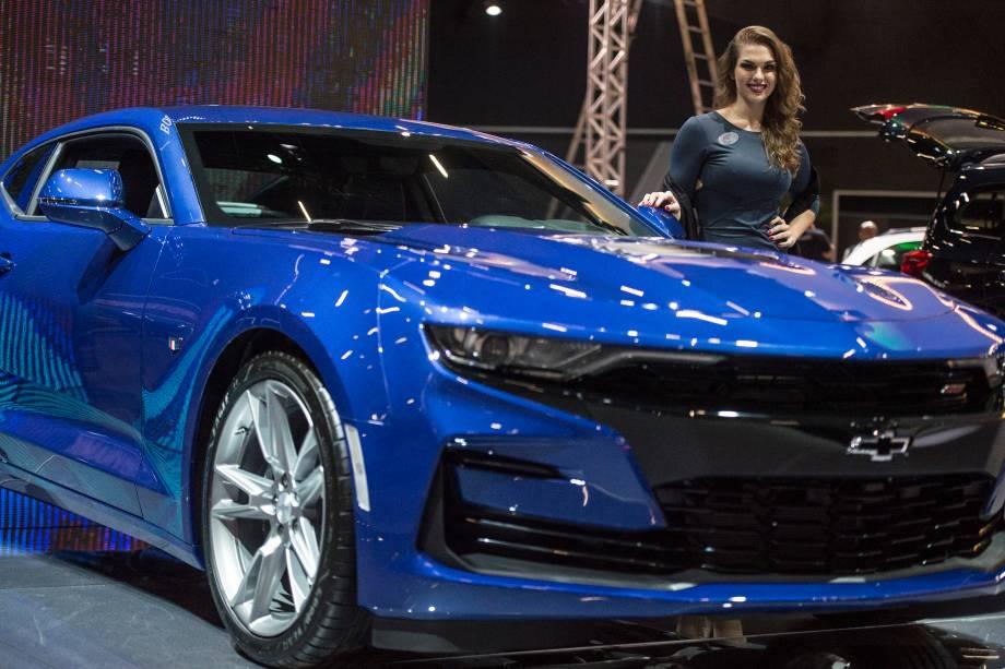 Kia Stinger é apresentado durante a abertura do Salão do Automóvel, no São Paulo Expo - 06/11/2018