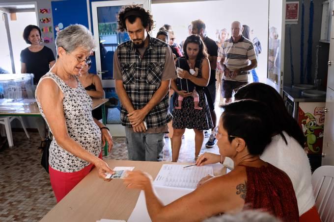 Os eleitores votaram a favor ou contra a independência da Nova Caledônia