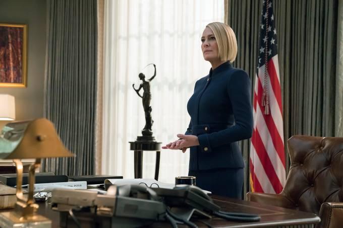 Robin Wright como Claire Underwood em 'House of Cards'
