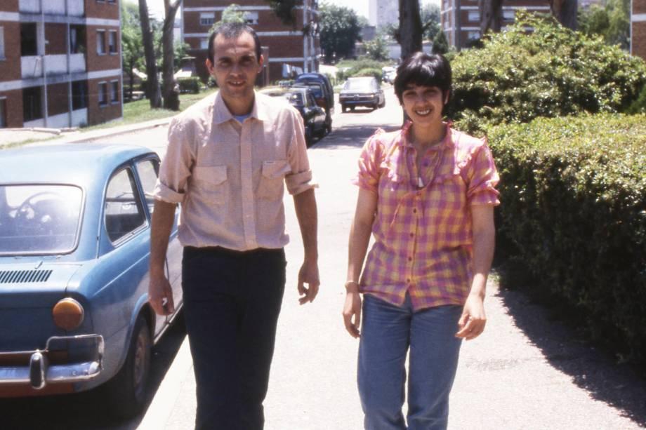 Lilián Celiberti e Universindo Dias, uruguaios que foram sequestrados em Porto Alegre, em 1978, e levados para o Uruguai - 1983