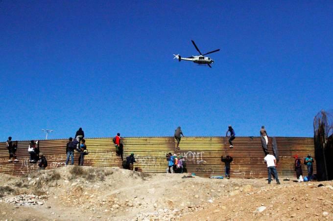 Caravana de imigrantes – Confronto