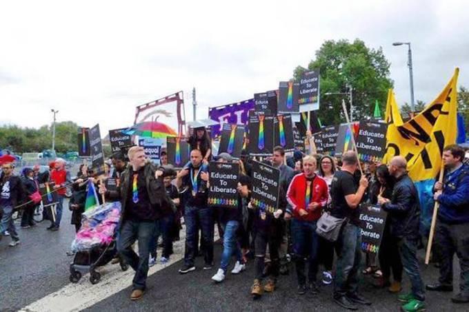 Parada do Orgulho Gay em Glasgow, Escócia