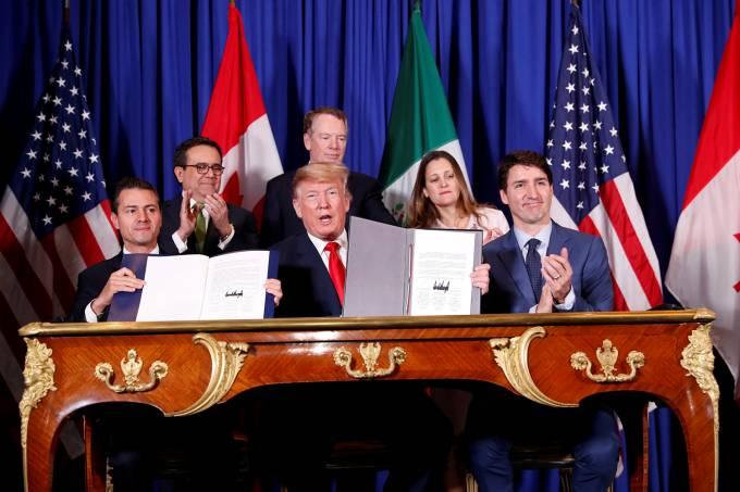 EUA, Canadá e México assinam novo acordo comercial