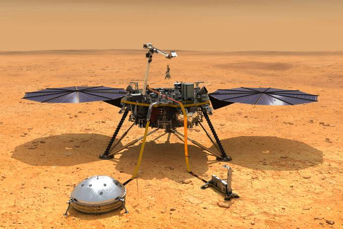 Nasa na contagem regressiva para pouso da sonda Mars InSight