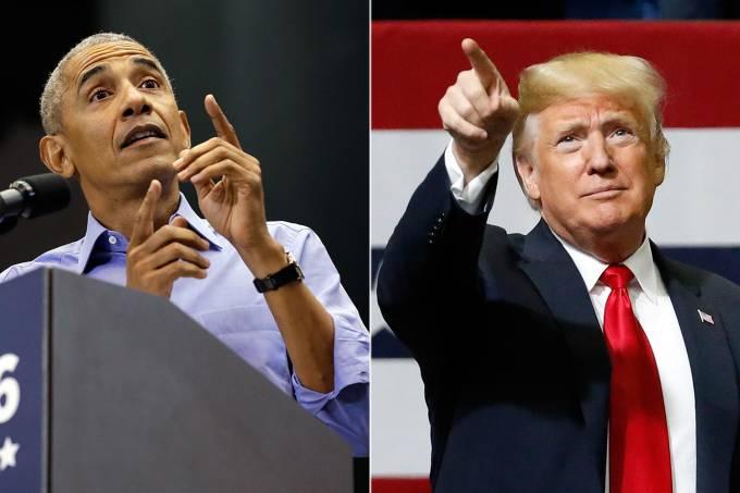 Obama e Trump rivalizam em meio a esforços finais para conquistar eleitores