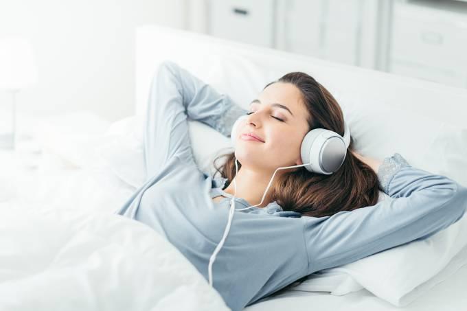 Saúde – Mulher relaxando