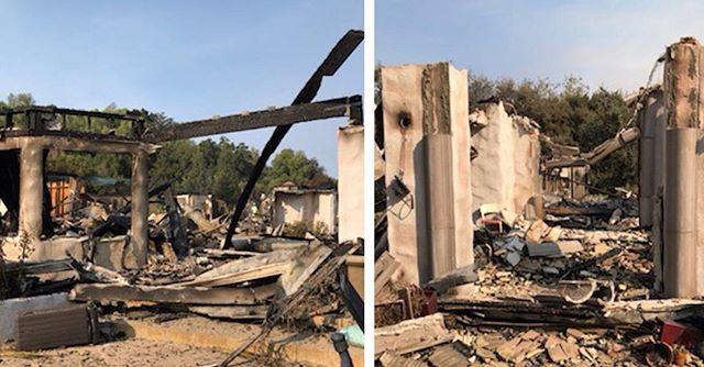 O diretor de cinema Scott Derrickson publica em seu Instagram fotos da destruição de sua casa após ser atingida pelo incêndio em Malibu, na Califórnia