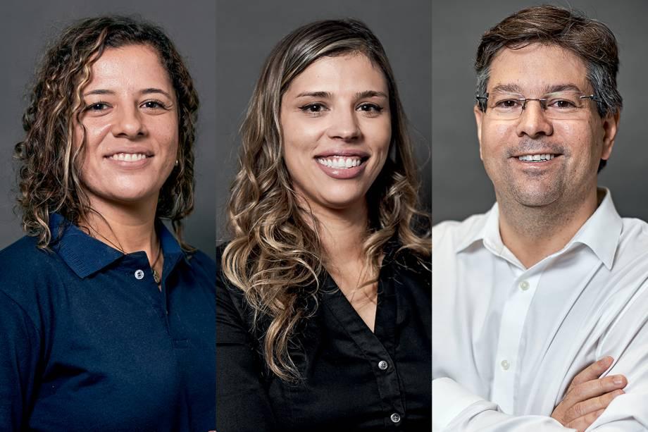 Juliana Maia, Raquel Molina e Tiago Alves: indicados ao Prêmio VEJA-se na categoria 'Inovação'