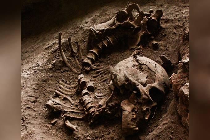 Ossos encontrados em Lagoa Santa