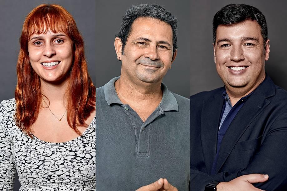 Lilah Fialho, Adalberto Marques e Rafael Parente: indicados ao Prêmio VEJA-se na categoria 'Educação'