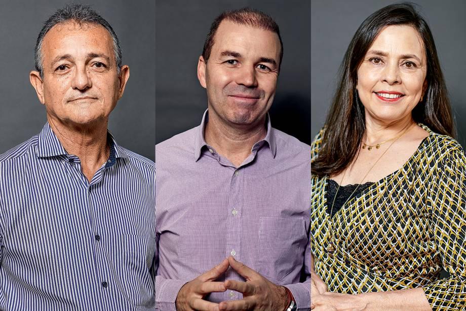 José Carlos Gaspar, José Crippa e Merula Steagall: indicados ao Prêmio VEJA-se na categoria 'Saúde'