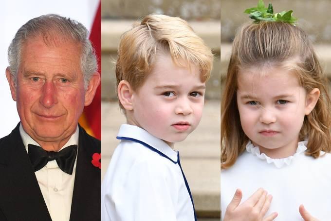 Príncipe Charles, Príncipe George e Princesa Charlotte